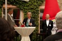 Begrüßung durch Markenverbandspräsident Franz-Peter Falke (m.), Prof. Dr. R. Mattmüller, EBS Business School (l.) und Jens Plachetka, Vorsitzender Lenkungskreis MARKENAKADEMIE