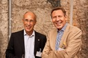 (vlnr) Dr. Klaus Schumann, Proctor & Gamble und Gerhard Berssenbrügge, Nestlé Deutschland