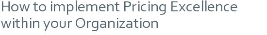 How to implement Pricing Excellence within your Organization