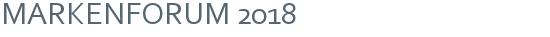 MARKENFORUM 2018