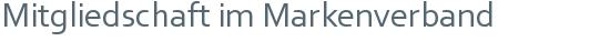 Mitgliedschaft im Markenverband
