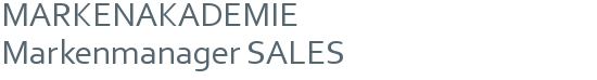 MARKENAKADEMIE | Markenmanager SALES