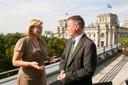 Julia Klöckner MdL im Gespräch mit Herrn Johannes Ippach (Markenverband)