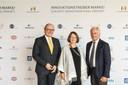 Christian Köhler, Evelyne Gebhardt MdEP und Vizepräsidentin des Europäischen Parlaments, Franz-Peter Falke